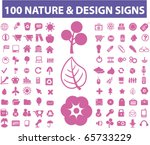100 nature   design signs.... | Shutterstock .eps vector #65733229