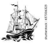 old ship | Shutterstock . vector #657336325