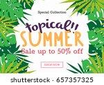 summer sale background layout... | Shutterstock .eps vector #657357325