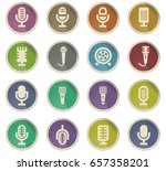 microphone vector icons for... | Shutterstock .eps vector #657358201