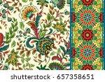 seamless floral patterns set.... | Shutterstock . vector #657358651