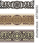 tattoo pattern made in the... | Shutterstock .eps vector #65736052