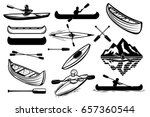 set of the kayaking sport icons.... | Shutterstock .eps vector #657360544