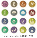 electricity vector icons for... | Shutterstock .eps vector #657361591