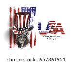 4th of july celebration hat... | Shutterstock .eps vector #657361951