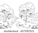 forest river graphic black... | Shutterstock .eps vector #657392521