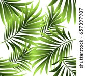 seamless pattern. leaves of a... | Shutterstock .eps vector #657397987