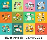 business concept. set icons ... | Shutterstock .eps vector #657403231