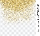 decorative background with gold ... | Shutterstock .eps vector #657406141