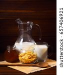 still life with cornflakes on a ... | Shutterstock . vector #657406921