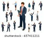 isometric set of businessman... | Shutterstock .eps vector #657411211