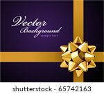 card with gold bow vector... | Shutterstock .eps vector #65742163