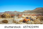 oldtimer towing vehicle in the... | Shutterstock . vector #657422494