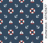 summer   nautical seamless... | Shutterstock .eps vector #657425677