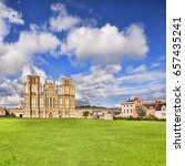 the west front of wells... | Shutterstock . vector #657435241