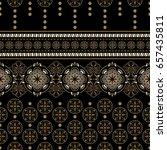 geometric ornament for weaving  ... | Shutterstock .eps vector #657435811