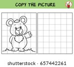 cute little bear. copy the... | Shutterstock .eps vector #657442261