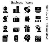 business icon set  vector... | Shutterstock .eps vector #657443281