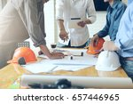 business objects of team... | Shutterstock . vector #657446965