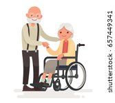 couple of elderly people.... | Shutterstock .eps vector #657449341