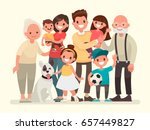 happy family. father  mother ... | Shutterstock .eps vector #657449827
