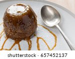 sticky toffee pudding on a... | Shutterstock . vector #657452137