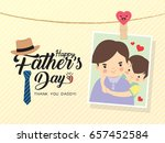 happy father's day template... | Shutterstock .eps vector #657452584