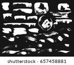 vector brush stroke. grunge ink ... | Shutterstock .eps vector #657458881