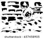 vector brush stroke. grunge ink ... | Shutterstock .eps vector #657458905