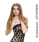 waist up portrait of beautiful... | Shutterstock . vector #657459859