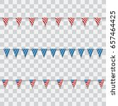 4th of july. decoration set of... | Shutterstock .eps vector #657464425