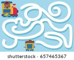 can you help the bear to find... | Shutterstock .eps vector #657465367