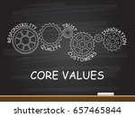 core values with gear concept... | Shutterstock .eps vector #657465844