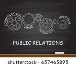 public relations with gear... | Shutterstock .eps vector #657465895