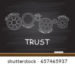 trust with gear concept on... | Shutterstock .eps vector #657465937