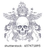 gothic coat of arms with skull. ... | Shutterstock .eps vector #657471895