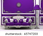 Luxury Sofa With Lamp In...