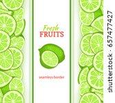 ripe lime vertical seamless... | Shutterstock .eps vector #657477427