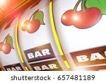 shiny golden slot machine 3d...   Shutterstock . vector #657481189