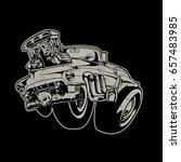 vector cartoon retro hot rod | Shutterstock .eps vector #657483985
