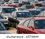 a view of a busy parking lot | Shutterstock . vector #6574849