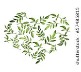 green leaves and branches shape ... | Shutterstock . vector #657485815