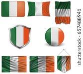 set of the national flag of... | Shutterstock .eps vector #657488941