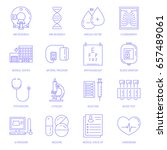 vector icon set with medical... | Shutterstock .eps vector #657489061