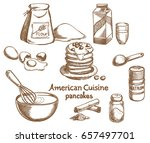 american pancakes and... | Shutterstock .eps vector #657497701