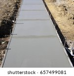 formed and poured concrete... | Shutterstock . vector #657499081