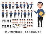 businessman or male vector... | Shutterstock .eps vector #657500764