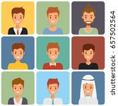 cute illustrations of man with... | Shutterstock .eps vector #657502564