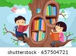illustration of stickman kids...   Shutterstock .eps vector #657504721
