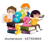 illustration of stickman kids... | Shutterstock .eps vector #657504844